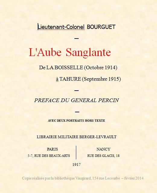 """Page de Titre """"Aube sanglante"""""""