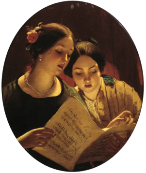 Le Duo par James sant (1820-1916)